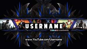 Pro YouTube Gaming Channel Banner Template (Floral)