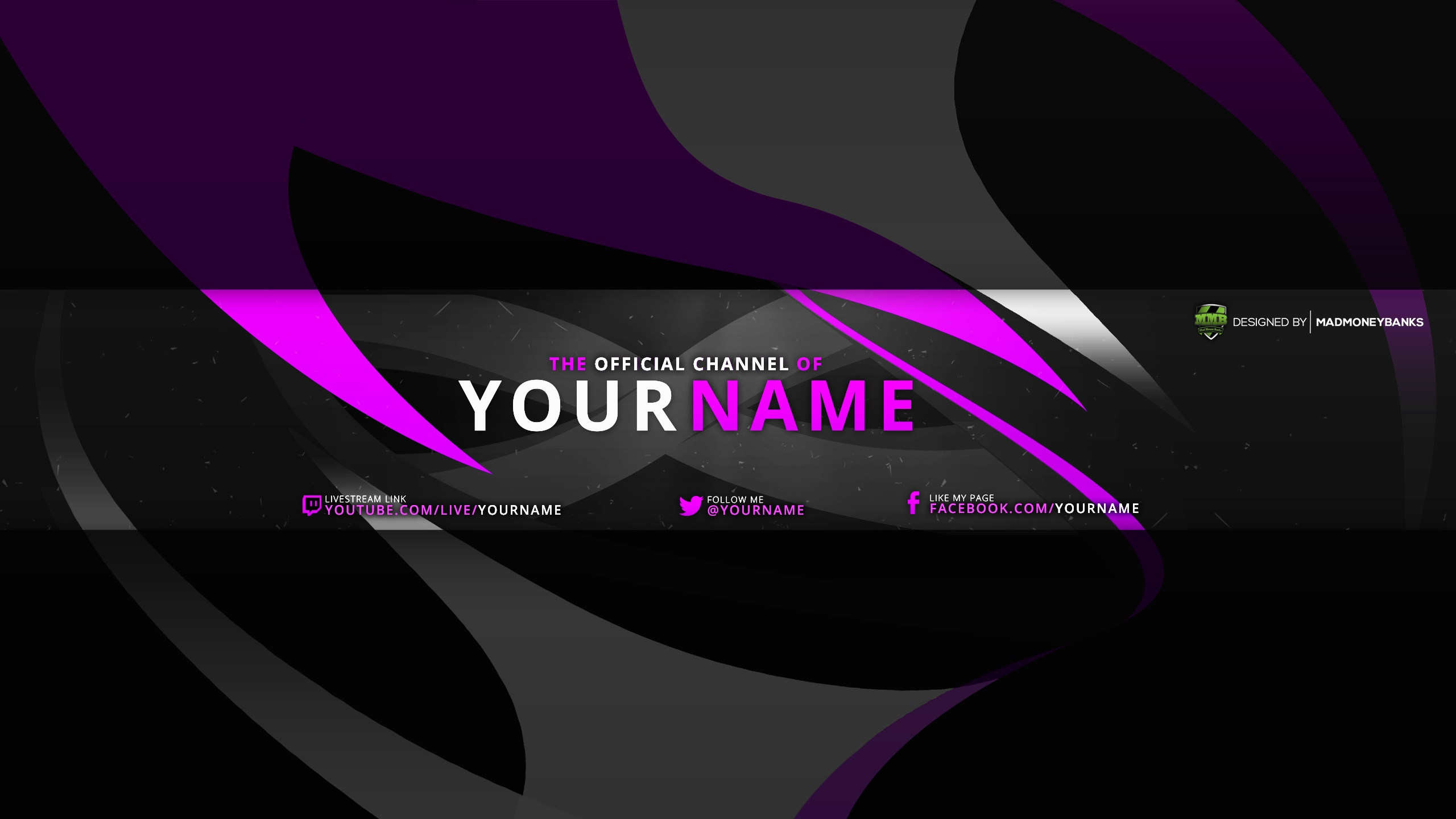 Swift YouTube Channel Banner Template - MadMoneyBanks For Youtube Banners Template
