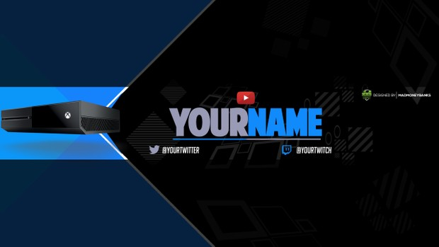 Next Gen YouTube Channel Banner Template