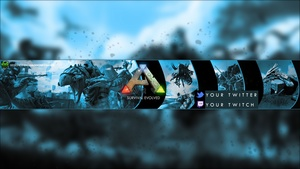 Ark Survival Evolved YouTube Channel Banner Template