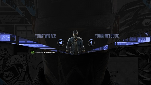 Watch Dogs 2 YouTube Channel Banner Template
