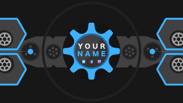 Technical Gears YouTube Channel Banner Template