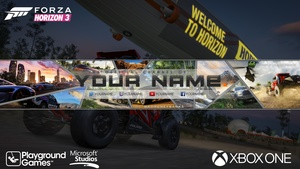 Forza Horizon 3 YouTube Channel Banner Template