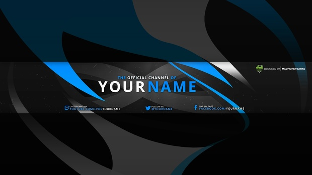 Swift YouTube Channel Banner Template - MadMoneyBanks