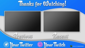 Happy Outro Card Template with Extras