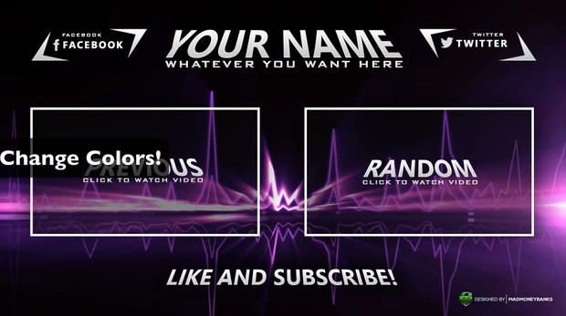 Sharp Outro Card Template with Extras
