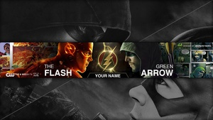 Green Arrow vs The Flash YouTube Channel Banner Template