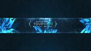 Ice Berg YouTube Channel Banner Template