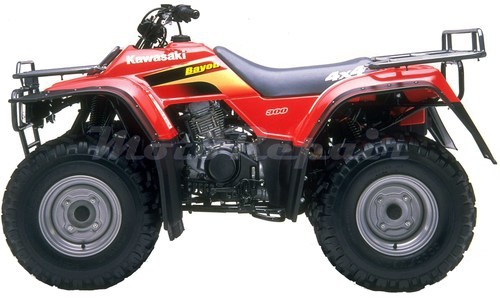 1986-2006 KAWASAKI KLF300 4x4 and 2x4 Bayou Service Manual, Repair Manuals -AND- Owner´s Manual