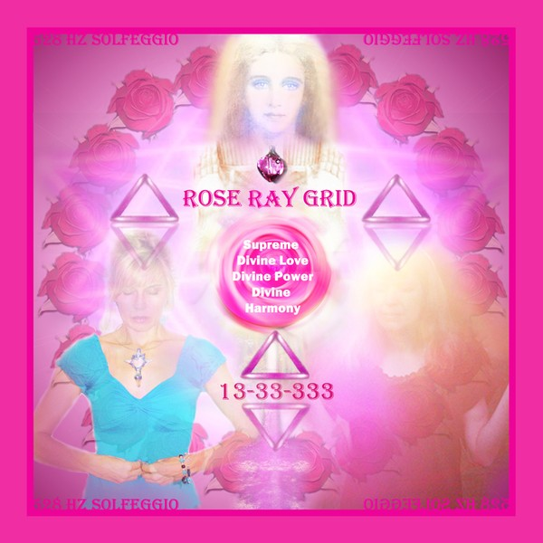 Rose Ray Grid Charger Of Supreme Love Protection/ Instant Download
