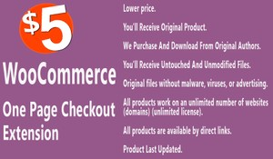 WooCommerce One Page Checkout Extension
