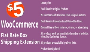 WooCommerce Flat Rate Box Shipping Extension