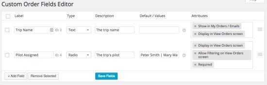 WooCommerce Admin Custom Order Fields Extension