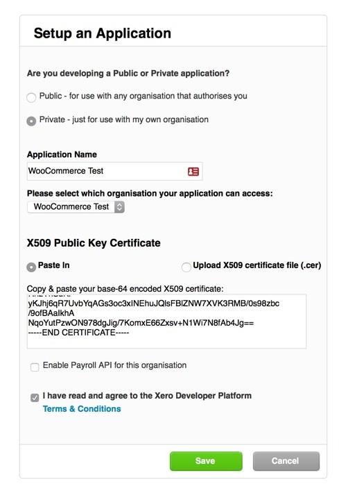 WooCommerce Xero Extension