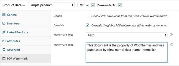 WooCommerce PDF Watermark Extension