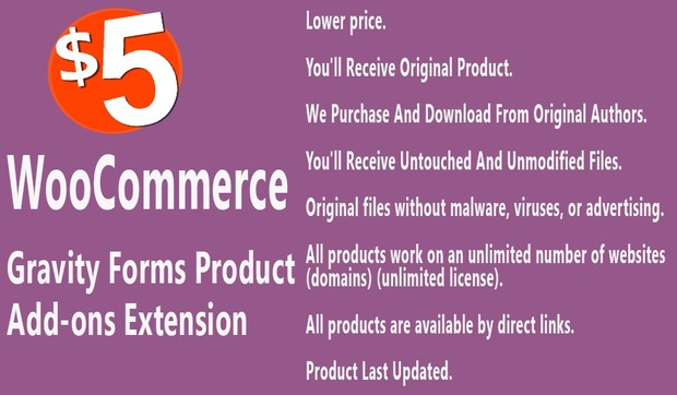 WooCommerce Gravity Forms Product Add-ons Extension