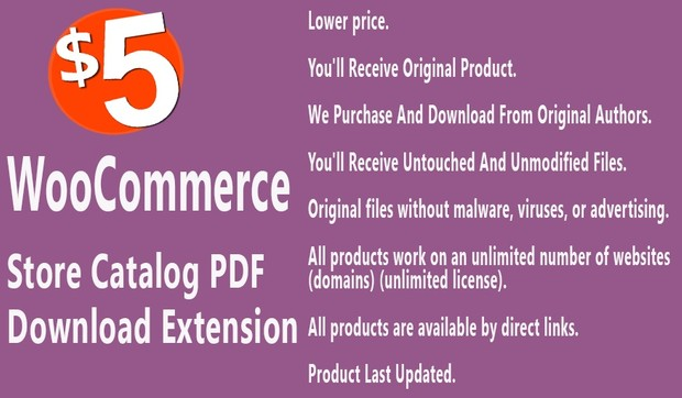 WooCommerce Store Catalog PDF Download Extension