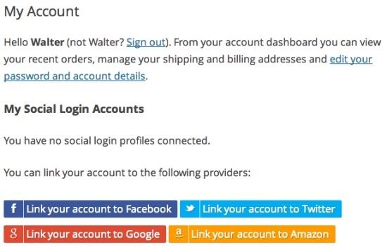 WooCommerce Social Login Extension