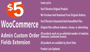 WooCommerce Admin Custom Order Fields Extension
