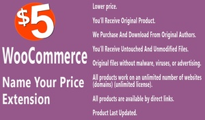 WooCommerce Name your Price Extension
