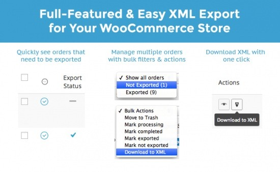 WooCommerce Customer Order XML Export Suite Extension