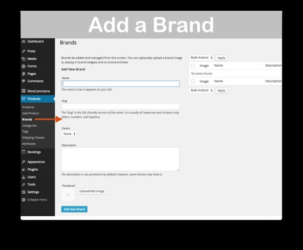 WooCommerce Brands Extension