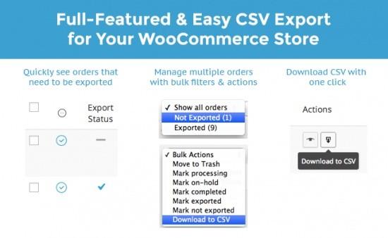 WooCommerce Customer Order CSV Export Extension