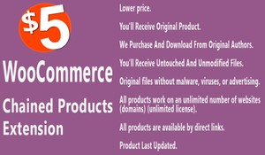 WooCommerce Chained Products Extension