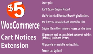 WooCommerce Cart Notices Extension