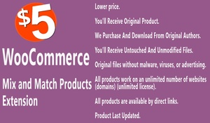 WooCommerce Mix and Match Products Extension