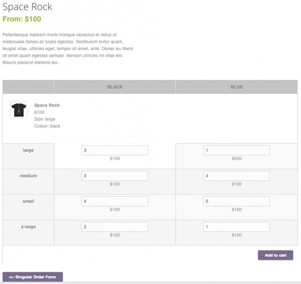 WooCommerce Bulk Variation Forms Extension