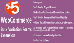 WooCommerce Bulk Variation Forms Extension