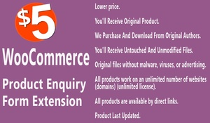 WooCommerce Product Enquiry Form Extension