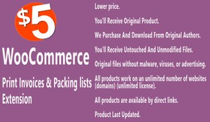 WooCommerce Print Invoices and Packing Lists Extension