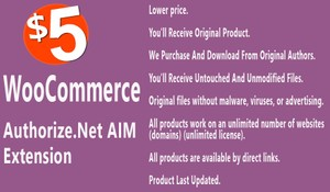 WooCommerce Authorize net AIM Payment Gateway Extension