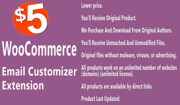 WooCommerce Email Customizer Extension