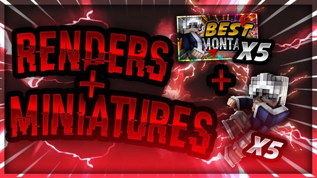 5 RENDERS + 5 MINIATURES