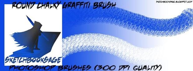 Round Chalky Photoshop Graffiti Brush