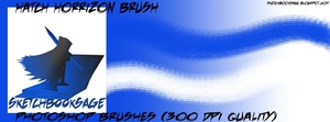 Hatch Horizon Photoshop Brush