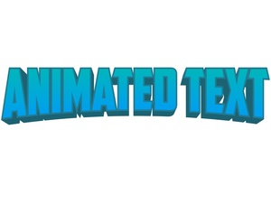 2d Animated Text