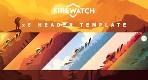 5 FIREWATCH Premade Header(s)
