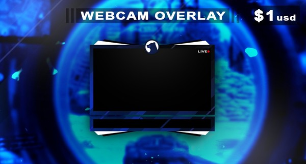 Blue Glare - Webcam Overlay Premade (Face Cam)