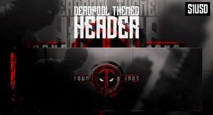 Deadpool Themed Premade Header