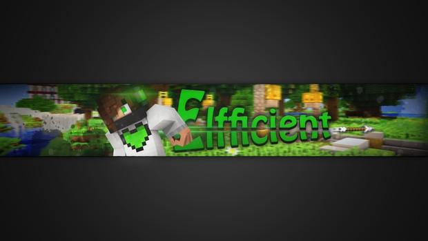 3D Minecraft YouTube Banner