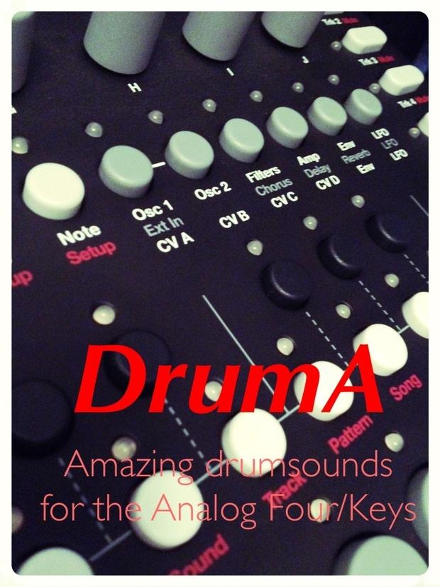 Druma - Drum bank for Elektron Analog Four and Analog Keys