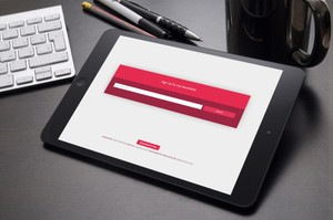 Elementor Template: Sign Up Form with Slide Down Animation