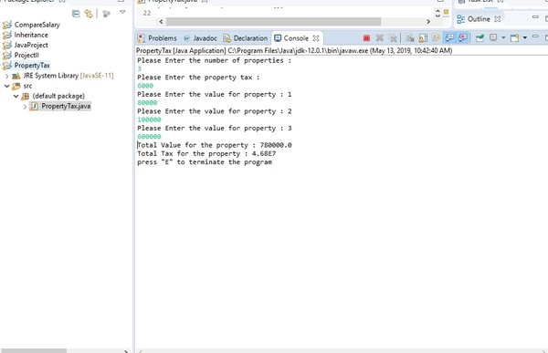 Java application program to calculate property tax Solved