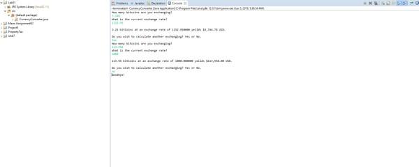 Java program named CurrencyConverter Solution