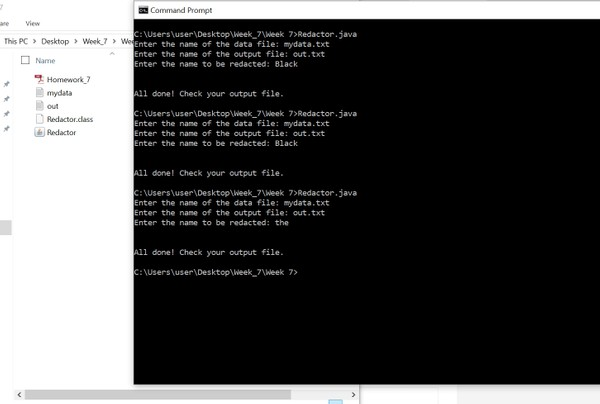 CS 570: Programming Foundations     Homework Assignment #7 Solution
