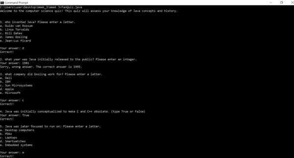 CS 570: Programming Foundations     Homework Assignment #3 Solution